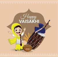 sfondo di celebrazione del festival sikh vaisakhi vettore