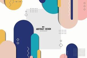 concetto alla moda di colore astratto linea arrotondata per sfondo di opere d'arte. illustrazione vettoriale eps10