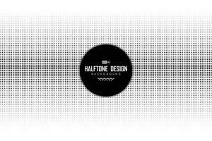 decorazione mezzitoni astratta punto nero su sfondo bianco. illustrazione vettoriale eps10