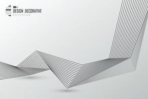 fondo di disegno decorativo del materiale illustrativo del modello di tecnologia della linea nera astratta. illustrazione vettoriale eps10