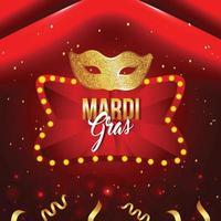 banner festa di carnevale o mardi gras vettore