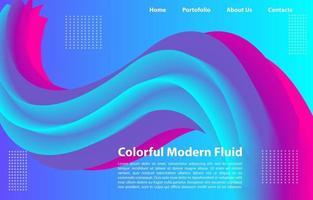 sfondo fluido moderno colorato 3d. modello di design per pagina di destinazione, banner, poster, copertina, ecc. vettore