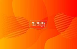 arancione moderno colore liquido background.wavy sfondo geometrico.disegno di elemento geometrico strutturato dinamico vettore