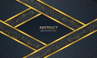 astratto sfondo scuro con linea oro design moderno. illustrazione vettoriale. vettore