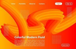 3d forma fluida astratta con gradiente. Concetto di pagina di destinazione in colore arancione. sfondo di forme geometriche di colore arancione astratto. vettore