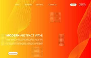 moderna onda astratta background.landing page abstract wave design. sfondo arancione. vettore