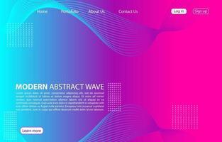 colorato moderno onda astratta background.landing pagina abstract wave design. sfondo di colore viola. vettore