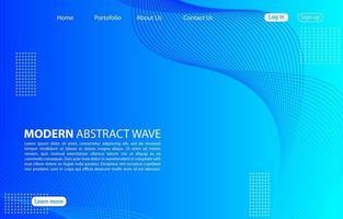 moderna onda astratta background.landing pagina abstract wave design.blue template app e siti web. vettore