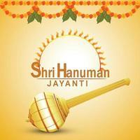 hanuman jayanti creative lord hanuman arma e fiore vettore