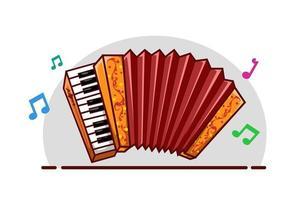 illustrazione di strumento musicale fisarmonica vettore
