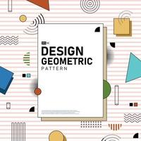 copertina astratta del fondo del materiale illustrativo del modello geometrico. illustrazione vettoriale eps10