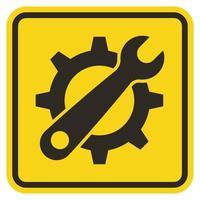 simbolo strumento di servizio segno su sfondo giallo vettore