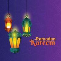 saluto islamico ramadan kareem sfondo vettore