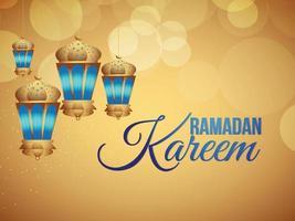 Lanterna araba di vettore del festival e dello sfondo islamici di Ramadan Kareem
