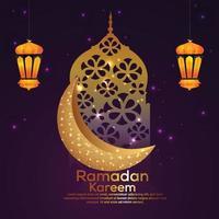 biglietto di auguri festival islamico di ramadan kareem vettore