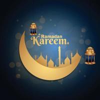 lanterna araba realistica di ramadan kareem o eid mubarak vettore