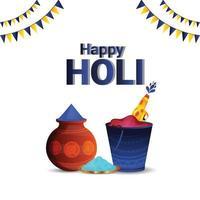 felice holi induismo cultura festival sfondo vettore