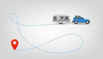 viaggiare in macchina. illustrazione vettoriale di viaggio estivo