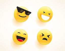 set di emoji vettoriali per web e app