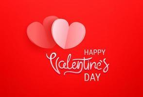 buon San Valentino. saluto banner template vettoriale