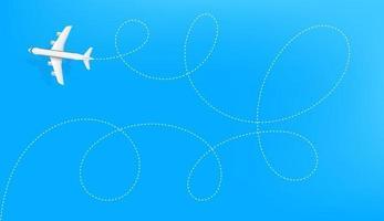 aerei moderni che volano nel cielo vettore