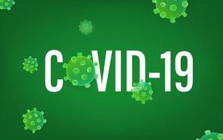 concetto covid-19. illustraction vettoriale con molecola di virus