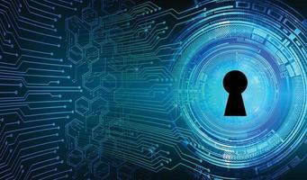 lucchetto chiuso su sfondo digitale, sicurezza informatica vettore
