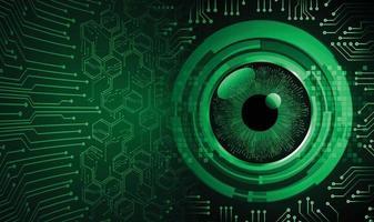 occhio cyber circuito futuro tecnologia concetto sfondo vettore