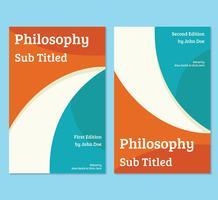 Modello di copertina del libro di filosofia vettore