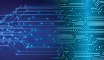 priorità bassa di concetto di tecnologia futura del circuito cyber blu vettore
