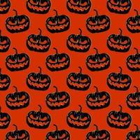 motivo di sfondo di halloween - zucche vettore