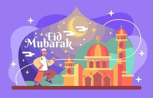 la notte del bellissimo ramadan vettore