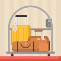 Vettore di bagagli