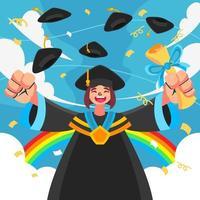 la laurea è un grande giorno vettore
