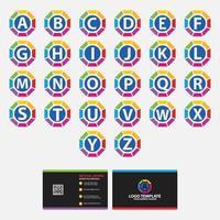 modello di progettazione di logo di lettera di alfabeti vettore