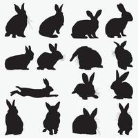 modelli di progettazione di vettore di sagoma di coniglio impostati