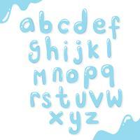 Acqua Alphabet Design vettoriale