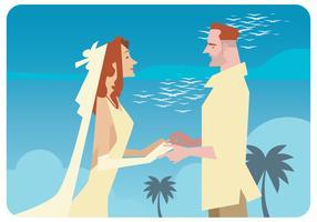 Vettore romantico dello sposo