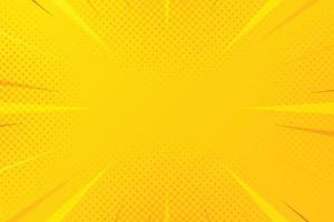 sfondo astratto giallo mezzitoni zoom comico vettore