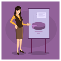 Presentazione della donna di affari di carattere