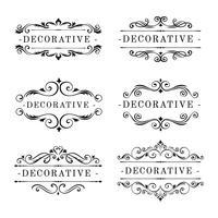 Vettore di ornamenti decorativi