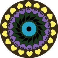 vettore di forma astratta chakra