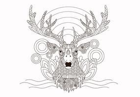 Vettore dei cervi degli animali del libro da colorare