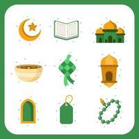 collezione di icone di saluti di stagione eid vettore