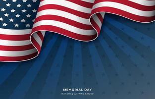 bandiera degli Stati Uniti sfondo per il memorial day vettore