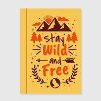 Copertina di libro motivazionale selvaggia e libera vettore