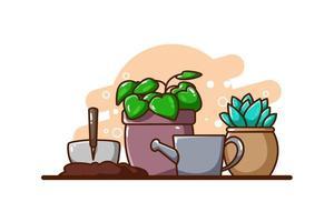 illustrazione di icona di piante vettore