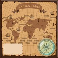 Vettore di mappa antica