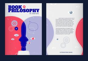 Copertina del libro di filosofia di illustrazione di vettore di concetto di mente umana
