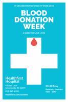 Opuscolo di donazione di sangue pulito e minimalista vettore